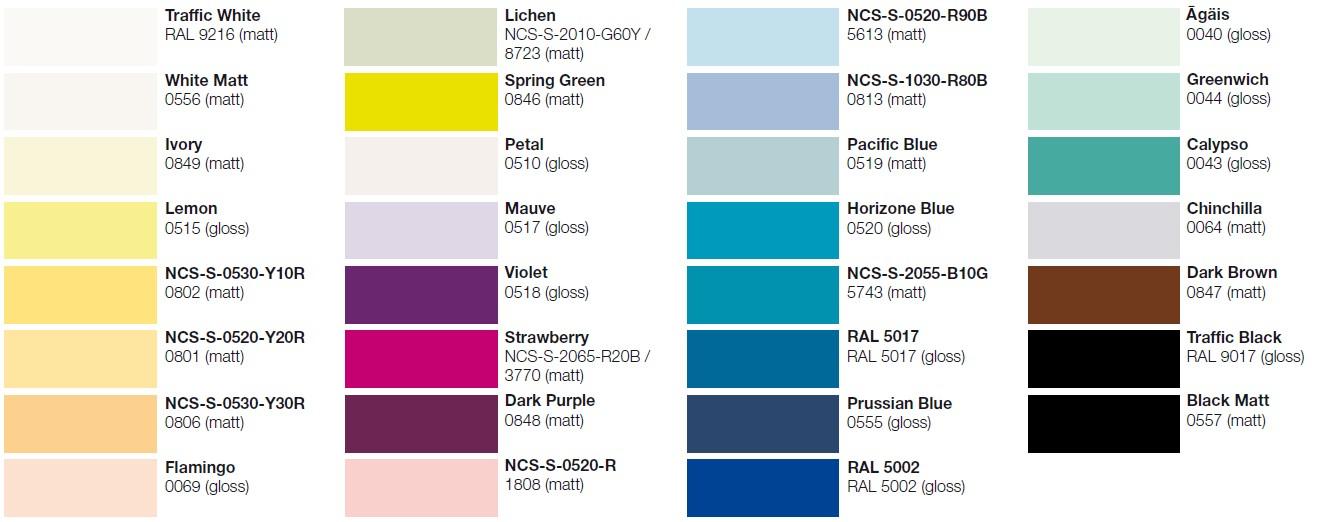 Zehnder Colours