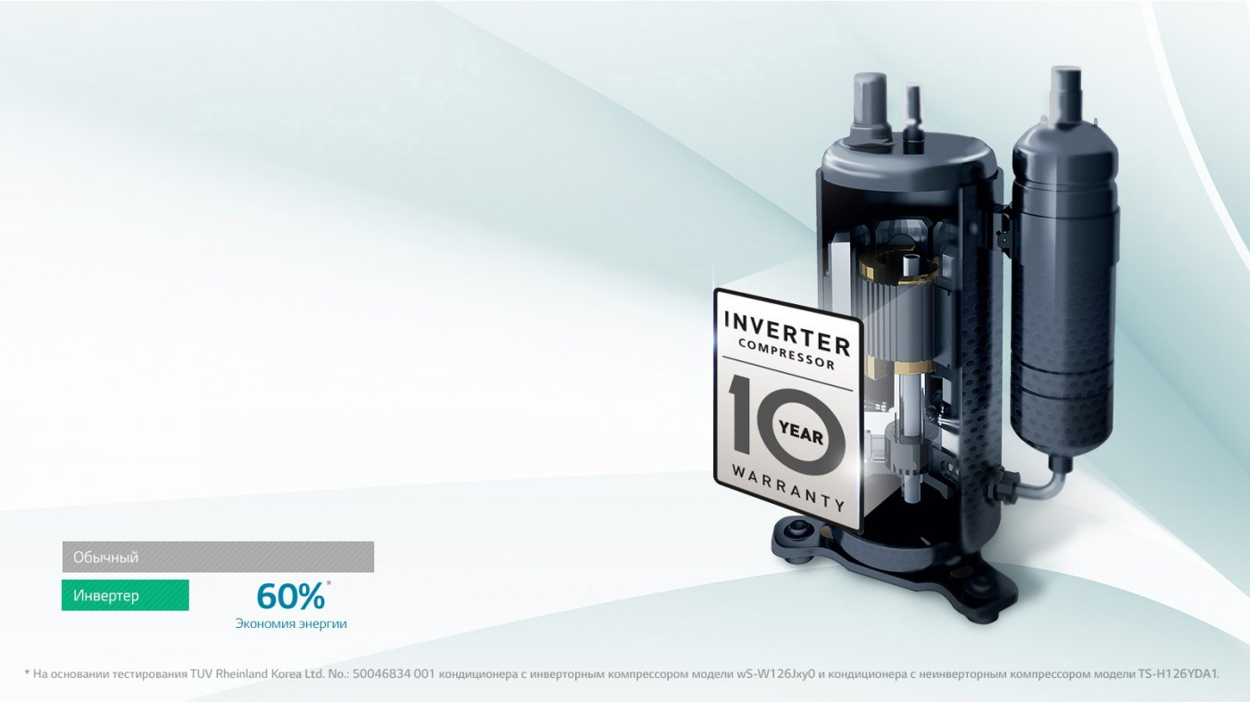 Кондиционеры LG гарантия на компрессор 10 лет