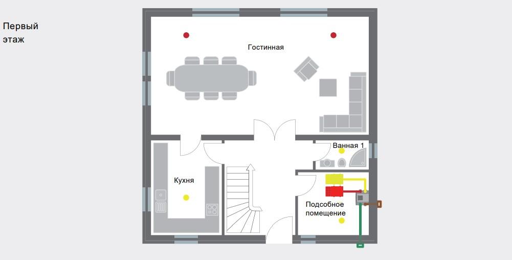 Первый этаж с вентиляцией Zehnder ComfoAir Q350