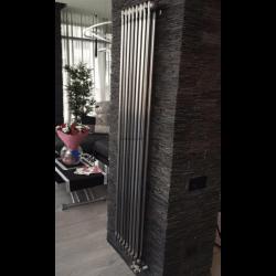 Вертикальный трубчатый радиатор Zehnder Charleston 2200-10, цвет — Technoline