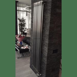 Вертикальный трубчатый радиатор Zehnder Charleston 2200-10, цвет – Technoline