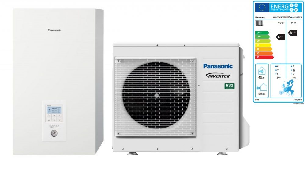 Тепловой насос Panasonic Aquarea High Performance KIT‑WC07J3E5 (Bi-Bloc, 7 кВт, 220 В)