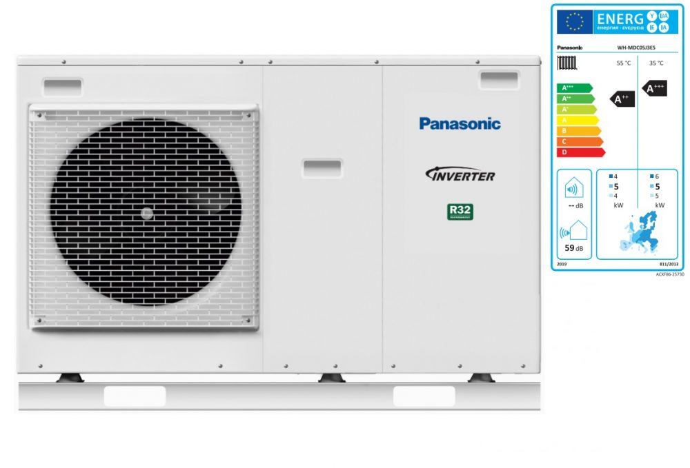 Тепловой насос Panasonic Aquarea High Performance WH‑MDC05J3E5 (Mono-bloc, 5 кВт, 220 В)