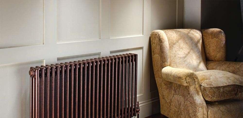 Стальной трубчатый радиатор Zehnder Charleston, цвет — Terracota Quartz 3057-22