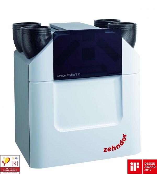 Вентиляция с рекуперацией тепла Zehnder ComfoAir Q350